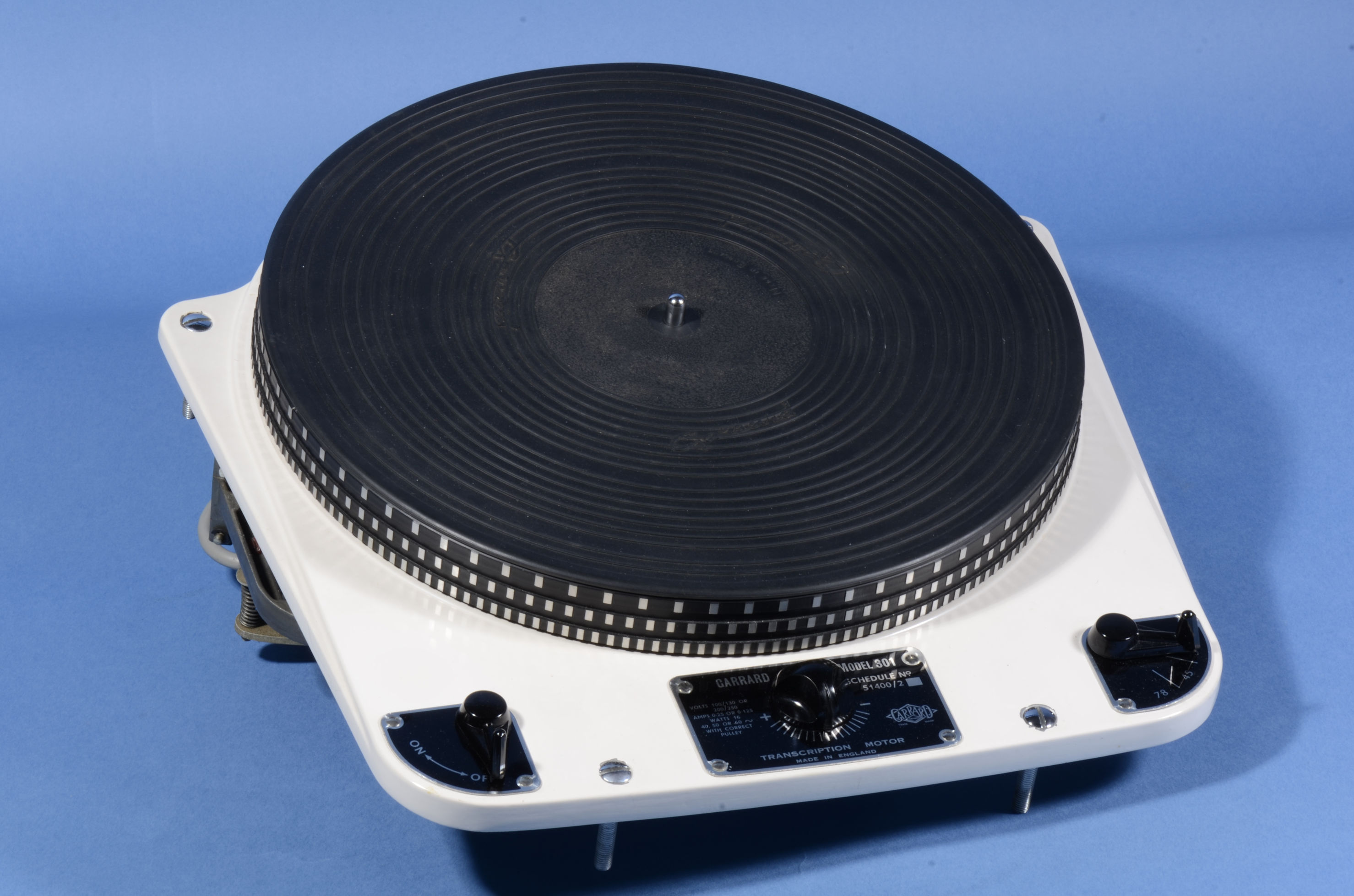 Garrard 301 transcription turntable early schedule 2 oil bearing version